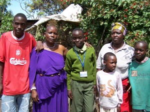 Our sponsored child, Amani, with his family